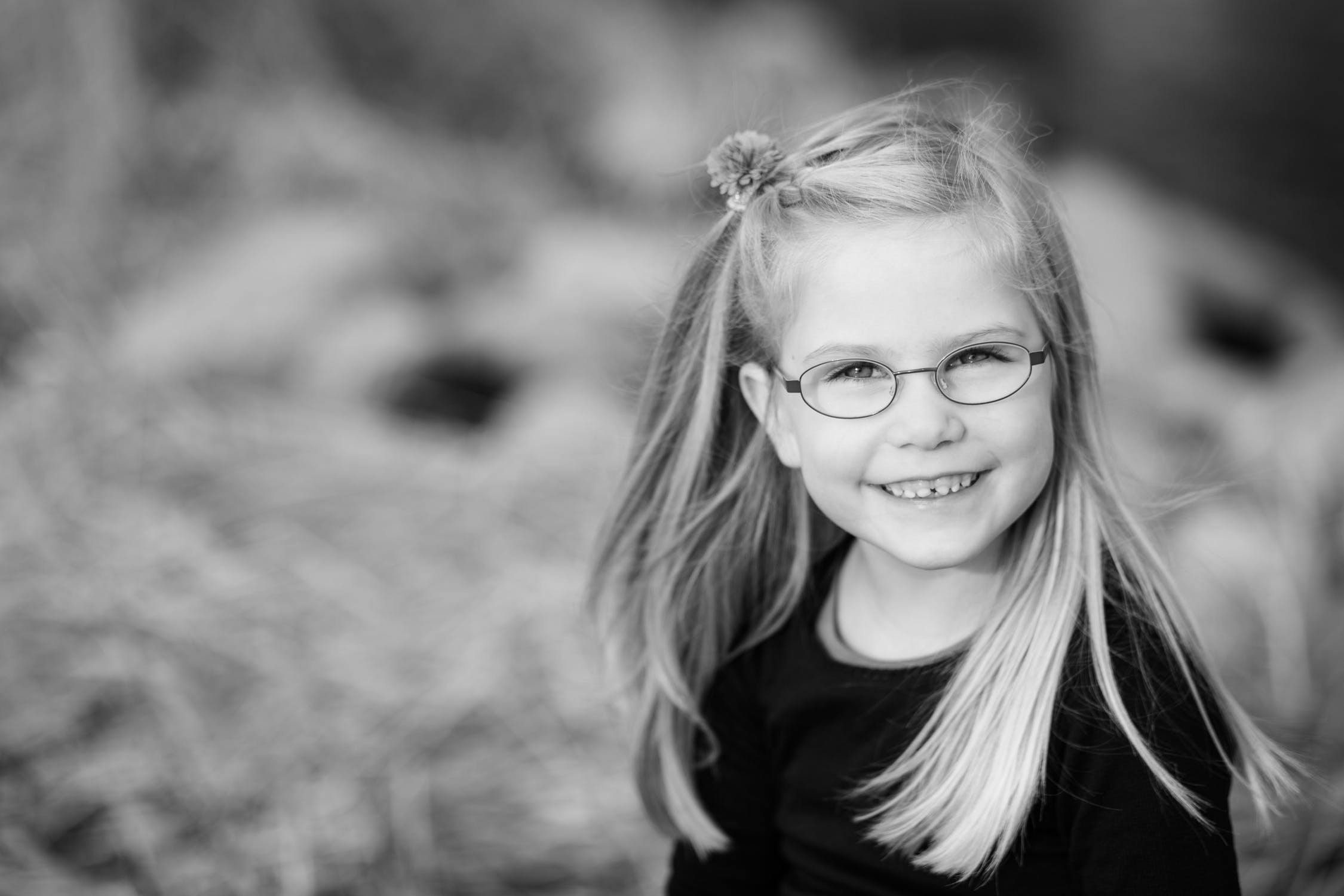 Image of a happy child with glasses